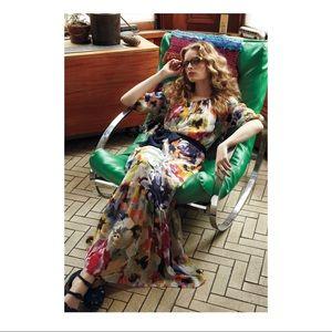Anthropologie Meadow Rue Autumn bulbs maxi dress